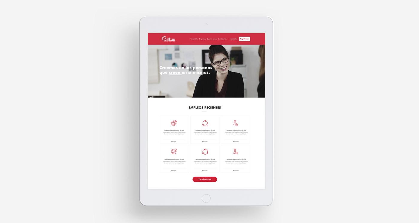 Diseño web para Dalbau