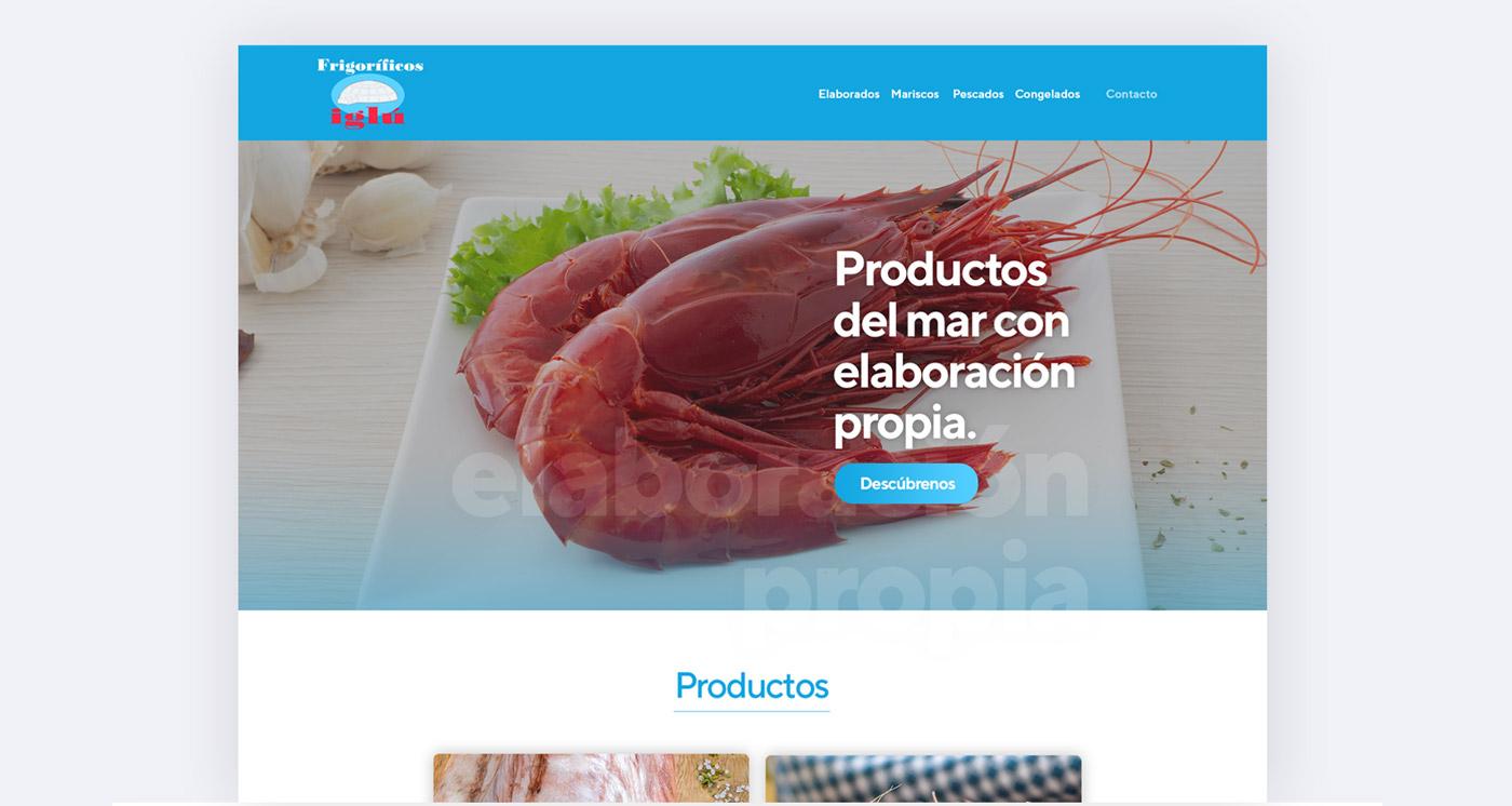 Diseño web para Frigoríficos Iglú en Málaga