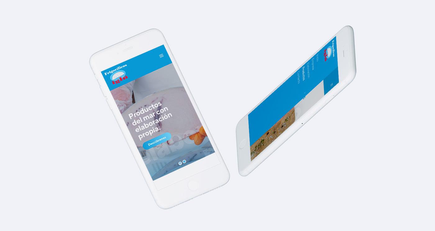 Diseño web mobile para Frigoríficos Iglú