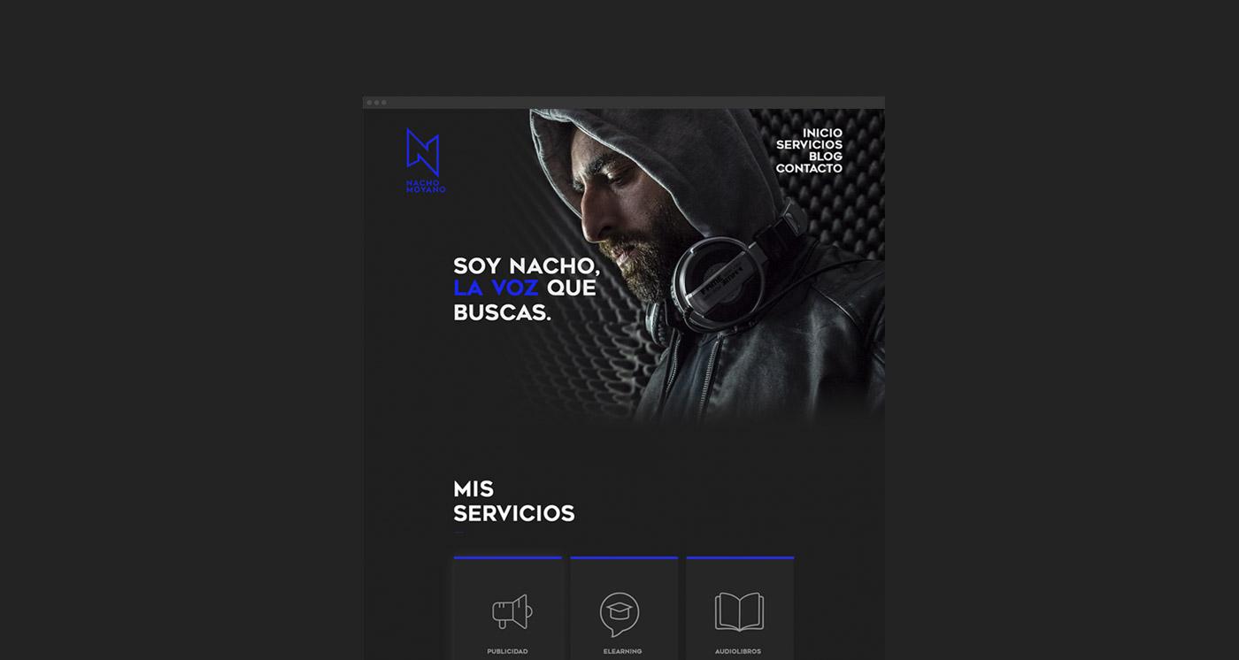 Diseño de página web para Nacho
